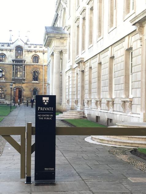 King's College Chapel in Cambridge - I walked that (forbidden) walk