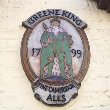 The Greene King pub sign in Cambridge