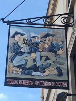 The King Street Run pub sign in Cambridge