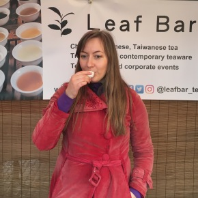 Kristine, founder of The Leaf Bar in Cambridge
