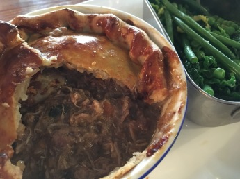 Lunch at the Red Lion restaurant in Grantchester - Game Pie