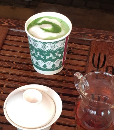 Matcha Latte from The Leaf Bar in Cambridge Market