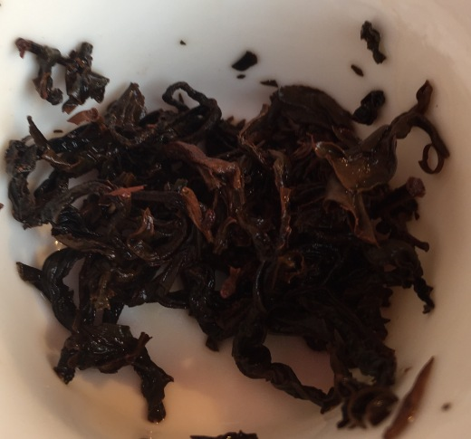 Taiwan Bai Wen Red tea from The Leaf Bar after infusion
