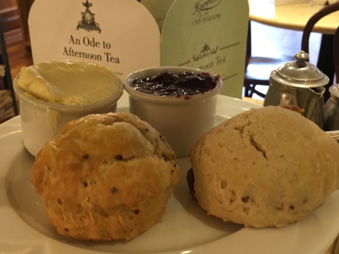Scones at Harriet's tea room in Cambridge