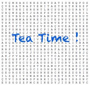 Mots mêlés Tea time