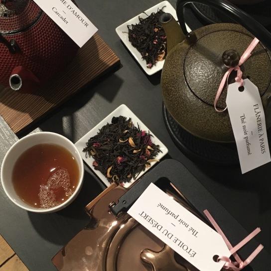 Découvertes de thés à la rose chez Dammann Frères : Étoile du désert et Flânerie à Paris